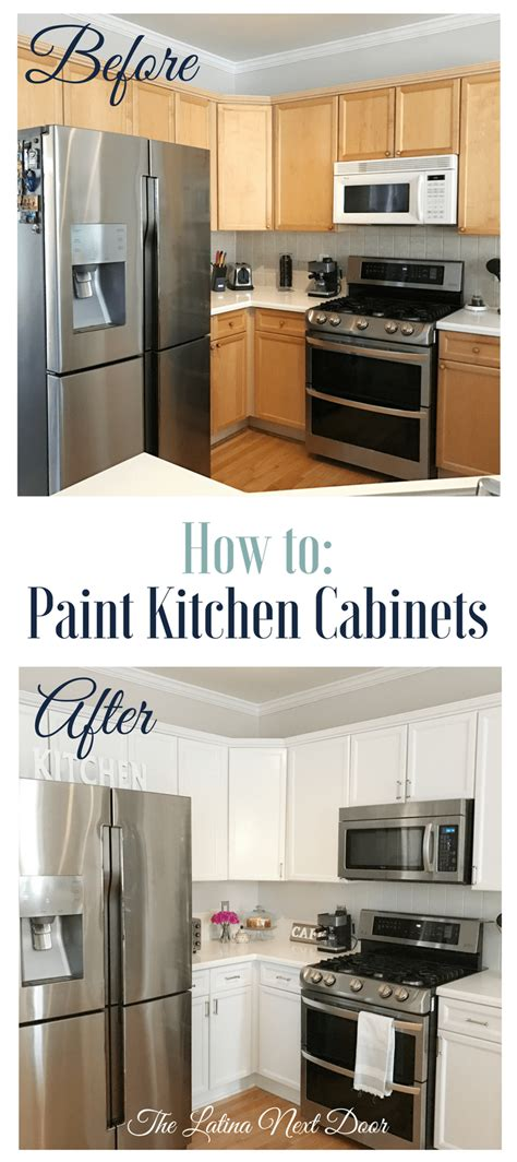 Long Kitchen Cabinets How To Paint Kitchen Cabinets The Latina Next Door