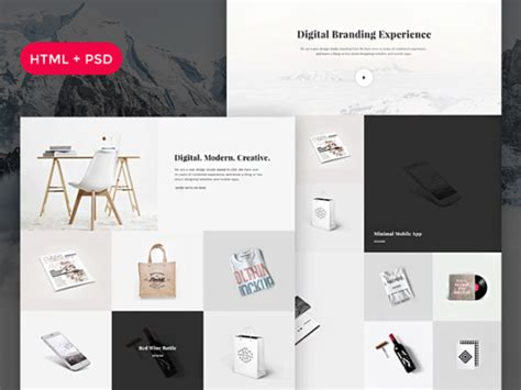wordpress themes graphic design portfolio free snow free psd html portfolio template freebiesbug