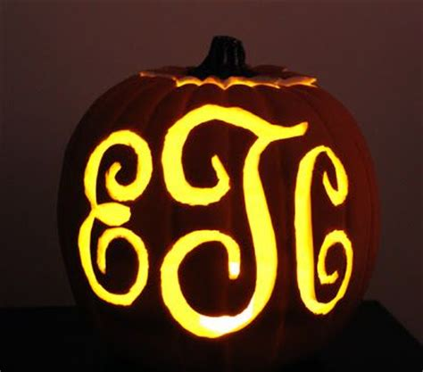 monogram pumpkin templates 22 best pumpkin carving templates images on