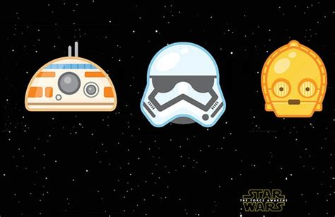 imagenes minimalistas de star wars twitter estrena emoticonos emoji de star wars vii