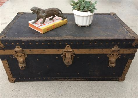 steamer coffee table antique steamer trunk coffee table rustic steunk by