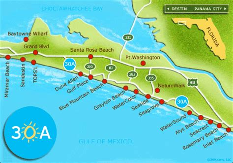 30a map thanksgiving along the emerald coast 30a luxury homes