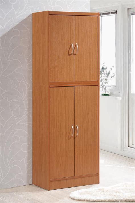 4 door pantry amazon com hodedah 4 door kitchen pantry with four