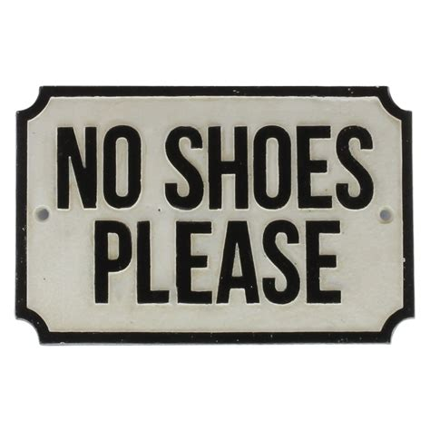 no shoes in the house sign printable cast iron sign no shoes please sign by homart seven colonial