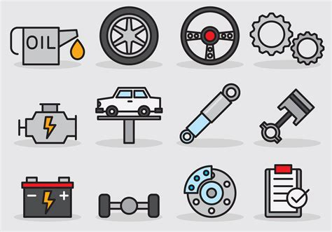 A Car Service by Car Service Icon Free Vector Stock