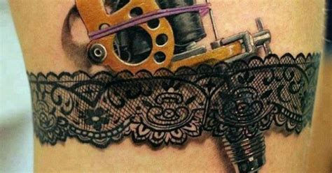tattoo gun belt garter belt holding an old school tattoo gun i like the