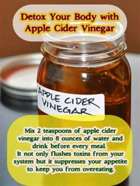 Vinegar Detox Recipe by Apple Cider Vinegar Detox Healthy Foods Recipes Benefits