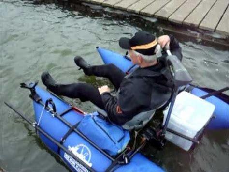 belly boot met motor belly boat met electra motor hengelsport 2000 youtube