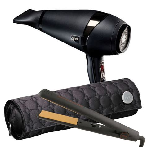 Hair Dryer And Straightener Bag ghd iv styler ghd air hair dryer duo with roll mat carry pack ebay