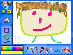 pics photos kids online paint and draw activity