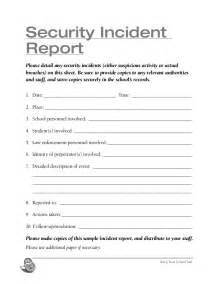 Incident Report Form Template Qld school security checklist storch 2013