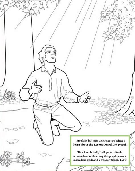 Lds Games Color Time Joseph Smith S First Prayer Lds Lds Primary Joseph Smith Coloring Pictures