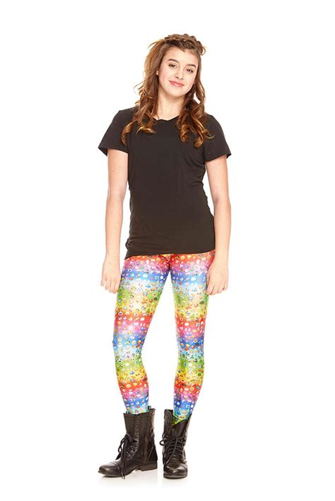 terez girls emoji rainbow leggings