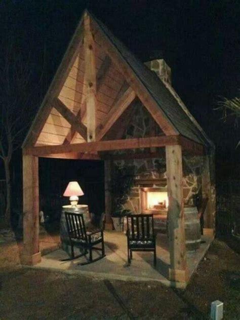 amazing rustic outdoor fireplace design ideas