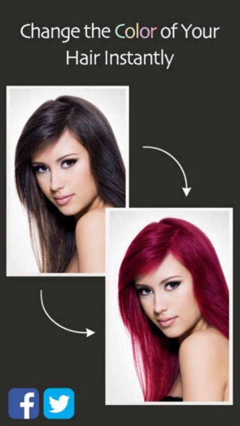 hair color change app for iphone awesome iphone apps for women