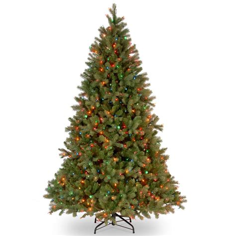 home depot 9 foot douglas fir artificial treee national tree company 6 5 ft downswept douglas fir artificial tree with multicolor
