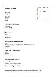 curriculum europeo da compilare pdf des photos des photos de fond modello curriculum da compilare modello curriculum