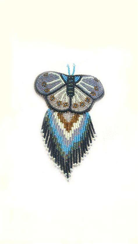 beadwork blue beaded barrette sead bead embroidery beadwork blue by