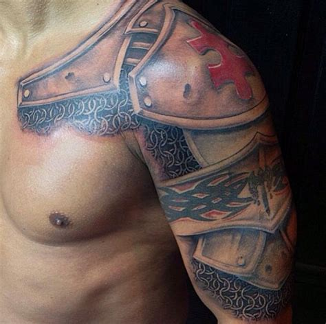 armor shoulder tattoo armor tattoos designs ideas and meaning tattoos for you