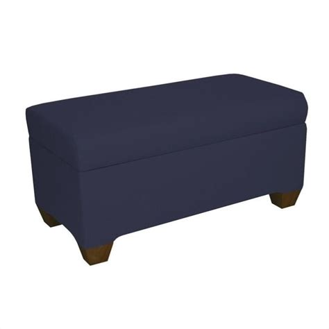 navy bench skyline furniture twill storage bench in navy 8602st twnvy