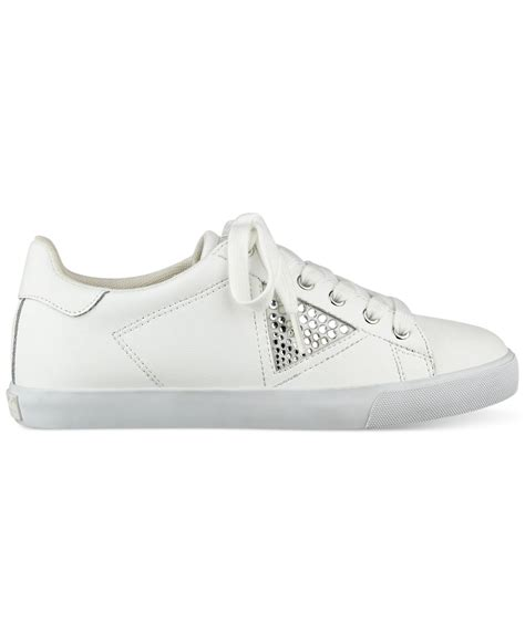 guess that sneaker guess s marline sneakers in white lyst