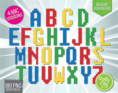 lego letters clipart