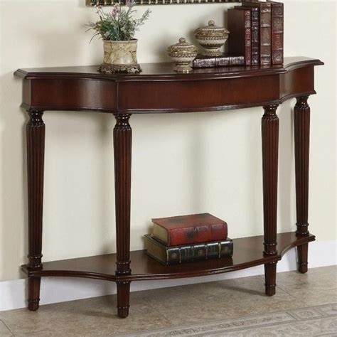 console table and bench powell furniture masterpiece console table with 4 reeded