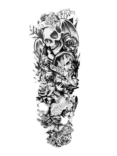 imagenes de calaveras rosas tatuaje temporal calaveras y rosas tiendatatuajes