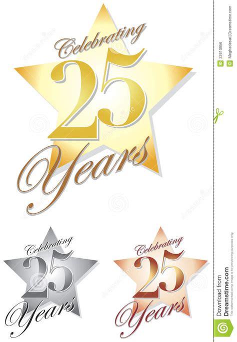 celebrating 25 years eps royalty free stock image image