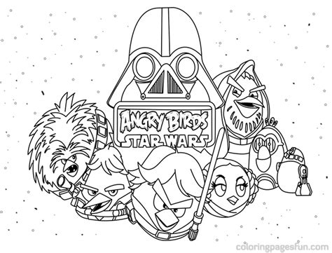 Printable Coloring Pages Wars angry birds wars coloring pages to print