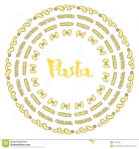 vector italian pasta pattern stock illustration italian pasta vector sketches hand drawn stock vector