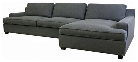 Kaspar Slate Gray Fabric Modern Sectional Sofa Kaspar Sectional Sofa