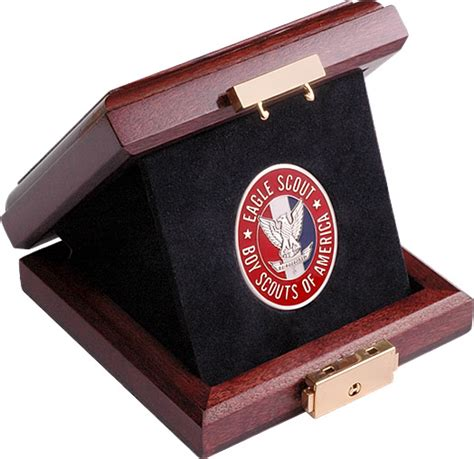 eagle scout insignia eagle scout coin silver in cherry box eagle scout