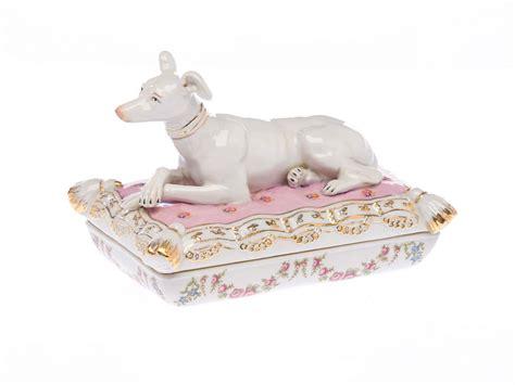 bonekinha de porcelana o beijo de cada signo dosis galgo perro plato de porcelana bote whippet ebay