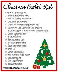 make a christmas bucket list day 15 of 31 days to take
