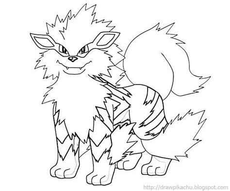 pokemon coloring pages growlithe arcanine coloring page google search colouring pages