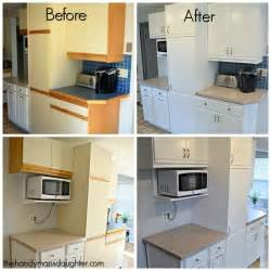 Updating Kitchen Cabinets With Paint cabinets with oak trim are the worst give them an update with paint