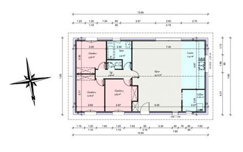 Plan Maison 90m2 Plain Pied 4345 by Plan Maison 90m2 Plain Pied
