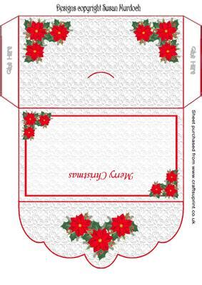 Money Card Holder Template Free by Money Wallet Gift Envelope Poinsettias Cup153412 489