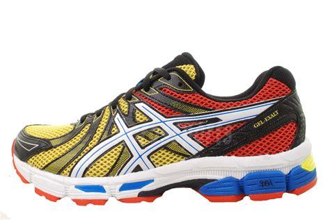asics rainbow running shoes asics gel exalt black yellow rainbow multi color
