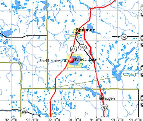 shell lake wisconsin wi 54871 profile population maps