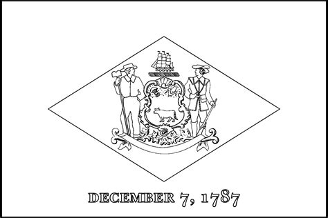 awesome delaware state flag line drawings jpg