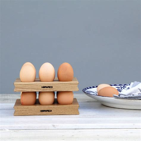 Egg Rack by Wooden Egg Rack Solid Oak By Hop Peck