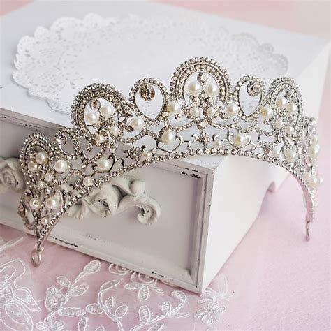 Handmade Bridal Hair Accessories - fashion handmade pearl rhinestone tiara crown bridal