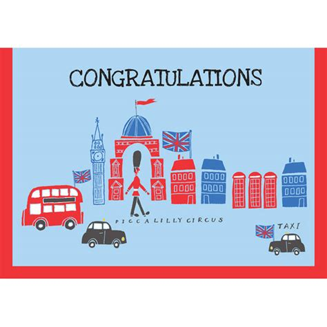 Gift Card London - london theme congratulations gift wrap and card set by piccalilly notonthehighstreet com