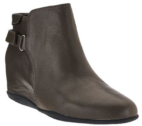 qvc ankle boots me leather wedge ankle boots harp qvc