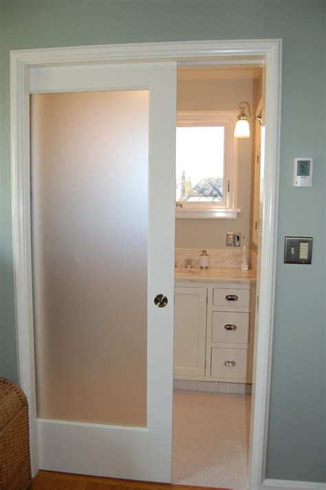 Interior Glass Sliding Pocket Door For Bathrooms 3 Photos Pocket Closet Doors Sliding