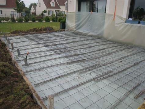 faire une terrasse beton 4502 terrasse bois armature wraste