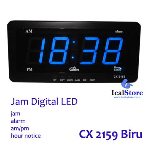 Jam Digital Led Cx 2158 Bulanhariminggutemperatur Clock Led Hijau jam dinding digital led tipe 2159 biru ical store ical