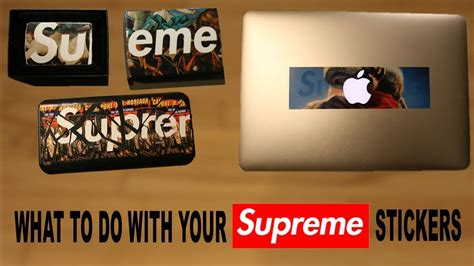 supreme stickers what to do with your supreme stickers part 2